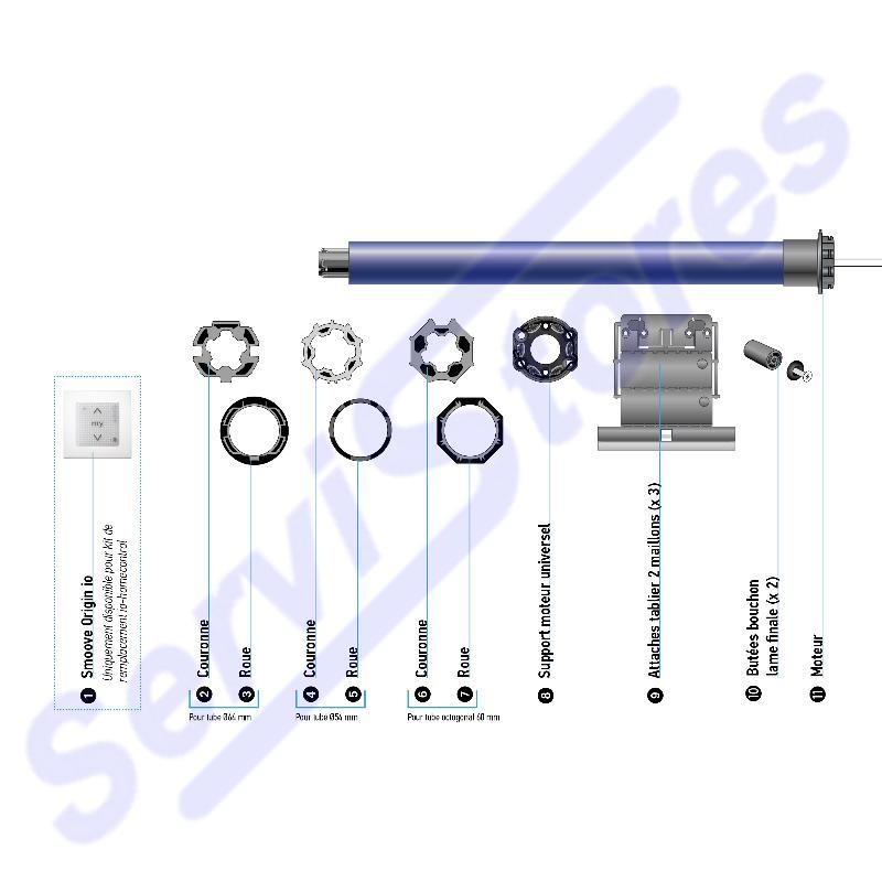 moteur somfy so2401530 servistores. Black Bedroom Furniture Sets. Home Design Ideas